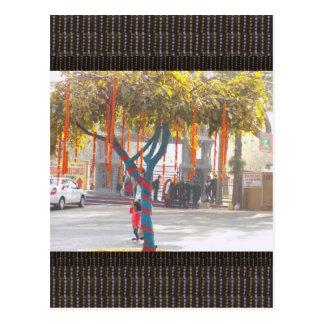 Tree Decorations India arts crafts festival delhi Postcard