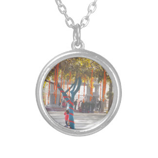 Tree Decorations Suraj Kund Nature Festival india Silver Plated Necklace