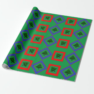 Tree Design with Fun Colors Wrapping Paper