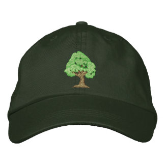 Tree Embroidered Cap