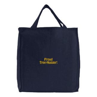 TREE HUGGER Eco Embroidered Carry Bag