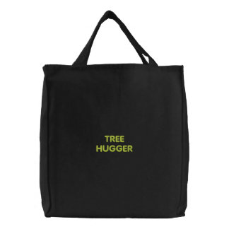 Tree Hugger Embroidered Carry Bag