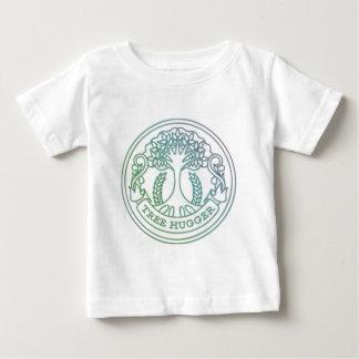 Tree hugger, hippy badge baby T-Shirt