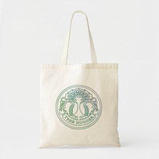 Tree hugger, hippy badge tote bag