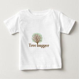 Tree Hugger w/ tree illustration Baby T-Shirt