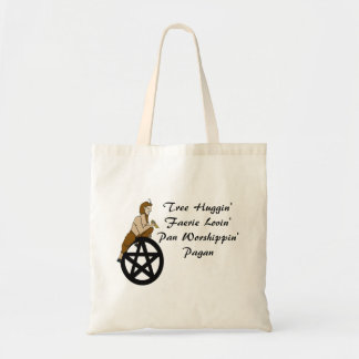 Tree Huggin' Pan Lovin' Pagan Tote Bag