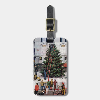 Tree in Town Square Luggage Tag