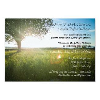 Tree Landscape Photo - 3x5 Wedding Announcement