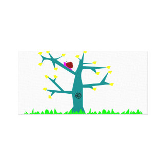 Tree-life Snail Canvas Print