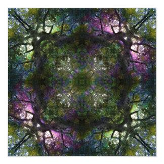 Tree Magic Mandala Art Card 13 Cm X 13 Cm Square Invitation Card