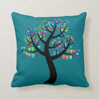 tree of hearts pillow