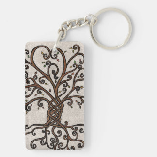 Tree of Life double sided key chain