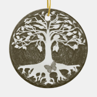 Tree of Life New Beginnings by Amelia Carrie Round Ceramic Decoration