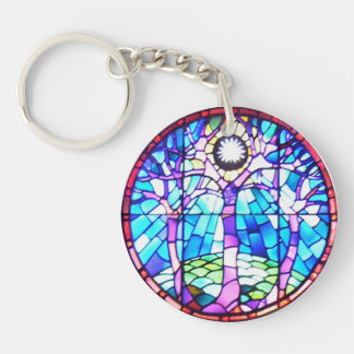 Tree of Life Stained Glass Keychain Acrylic Keychains
