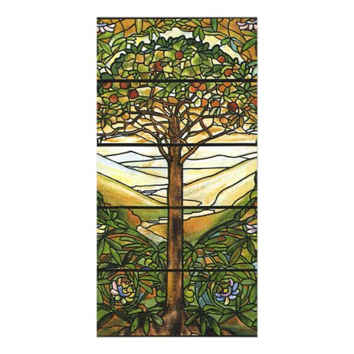 Tree of Life/Tiffany Stained Glass Window Customised Photo Card