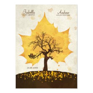 Tree of Love - Autumn Wedding Invite