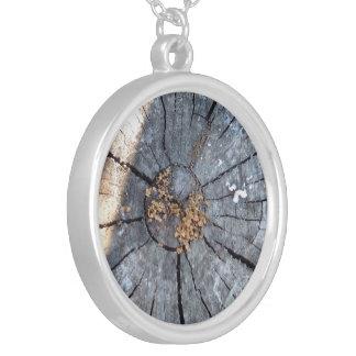 Tree Ring Round Pendant Necklace