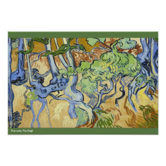 Tree roots, trunks, Vincent van Gogh, customize Photo