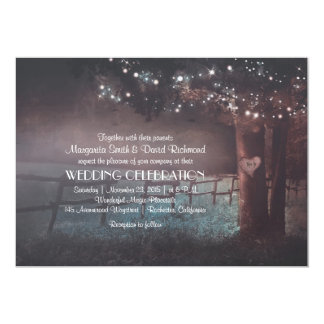 Tree Rustic Summer Outdoor Wedding invitation