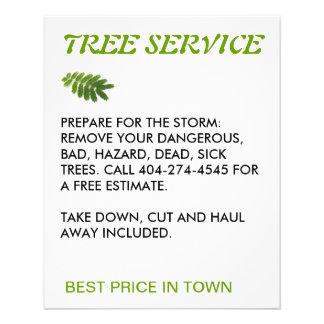 tree service 11.5 cm x 14 cm flyer