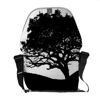 Tree Silhouette Courier Bags