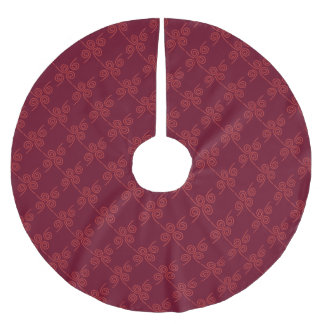 tree skirt christmas burgundy custom