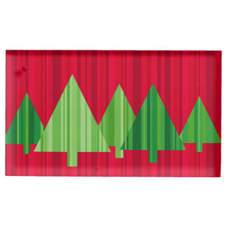 Tree Stripes Christmas Placecard Holder Table Card Holders