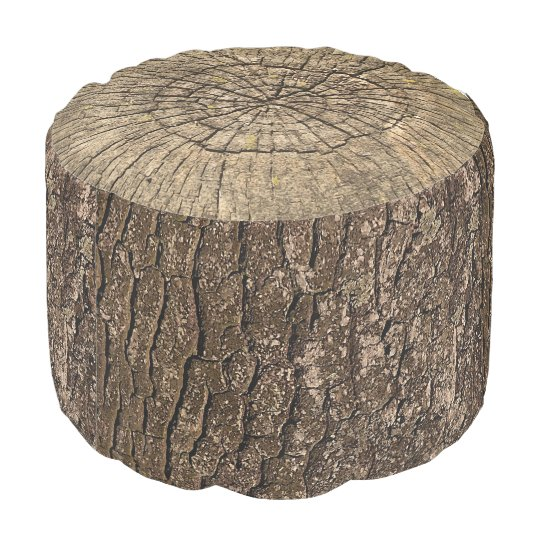 tree stump pouf zazzle. Black Bedroom Furniture Sets. Home Design Ideas