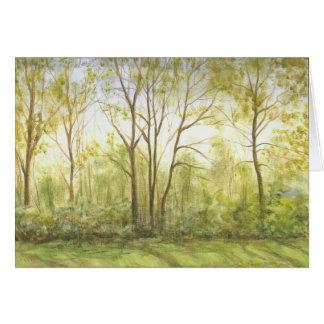 """""""Treeline in Spring"""" Card"""