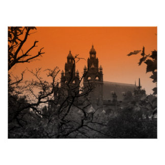 Trees and Spires Poster