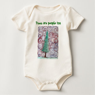 Trees are people too for babies baby bodysuit