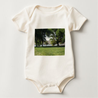 Trees by the Lake with Lawn Baby Bodysuit