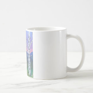 Trees in front of Mountains II Coffee Mug