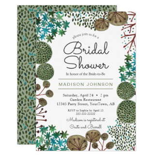 Trees Woodland Forest   Bridal Shower   Invitation