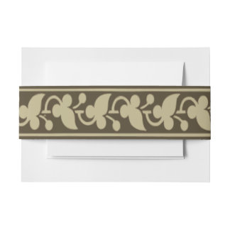 Trefoil Leaves and Flower Buds Invitation Belly Band