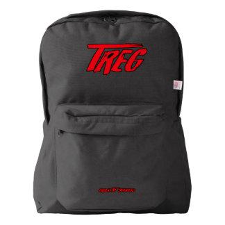 Treg Red on Black BackPacks Backpack