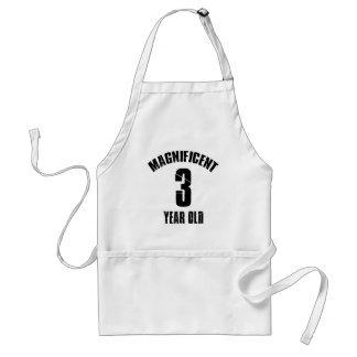 TRENDING 3 YEAR OLD BIRTHDAY DESIGNS STANDARD APRON