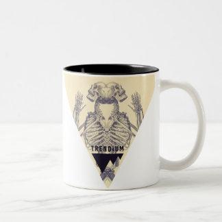 Trendium Vintage Symmetrical Skeleton Triangle Two-Tone Coffee Mug