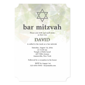 Trendy Abstract Bar Mitzvah Invitation