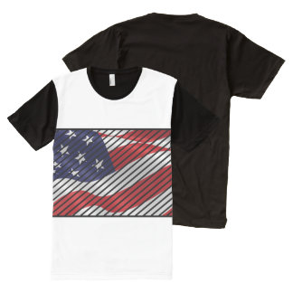 Trendy America All-Over Print T-Shirt