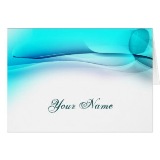 Trendy Aqua Personalized Greeting Card