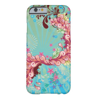 Trendy aqua pink ocean swirls iPhone 6 case Barely There iPhone 6 Case