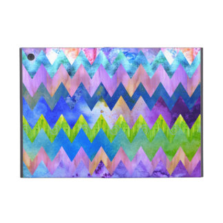 Trendy Artsy Watercolor Painting Chevron Pattern Case For iPad Mini