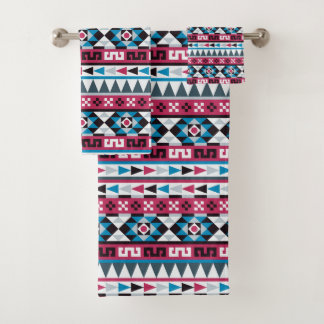 Trendy Aztec Style Geometric Pattern Bath Towel Set