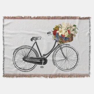 Trendy bike bicycle flower bike throw blanket