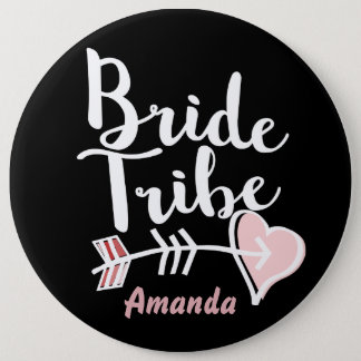Trendy bride tribe 6 cm round badge
