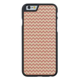 Trendy Brown Chevron Stripe Pattern Carved® Maple iPhone 6 Slim Case
