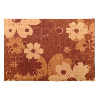 Trendy Brown Floral Vintage Placemat