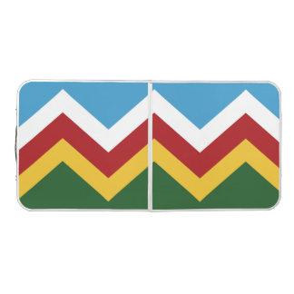 Trendy Chevron Pattern Design Pong Table