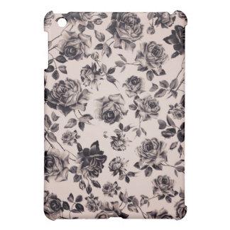 Trendy Chic White & Black Vintage Elegant Floral Case For The iPad Mini